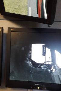 Driver in simulator