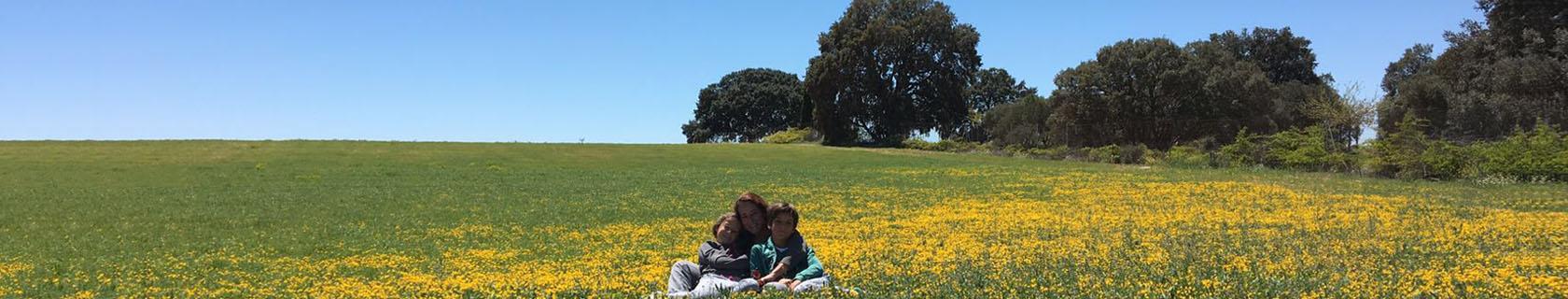 Familia en campo